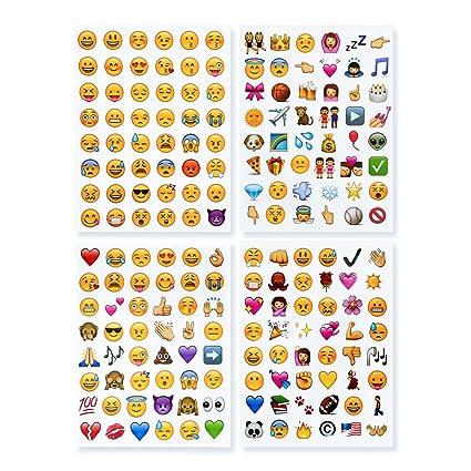 Novsix 16 Pack Emoji Sticker Set, Instagram, Facebook, Twitter, Pegatina Emoji de Iphone, 2 tamaños