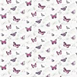 MyTinyWorld Dolls House Miniature Butterflys On White Wallpaper