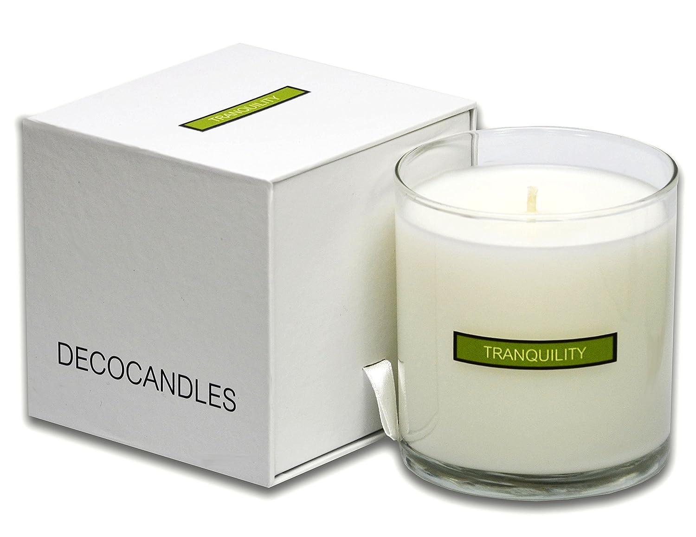 Amazon.com: DECOCANDLES   Tranquility   Lemongrass U0026 Wild Basil   12 Oz.    Soy Blend Jar Candle   Signature Scent From The Ritz Carlton Naples, ...