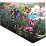 Colourful Garden Butterflies on Sticks x10. Dia 8cm by West5Products