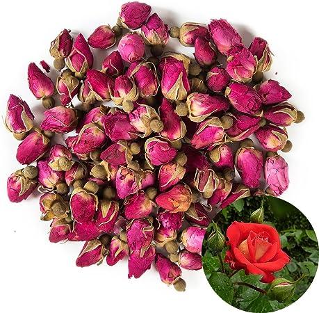 Rosa Damascena Golden-Rim Rose Perfect for All Kinds of Crafts Rose Buds Green Tea Bulk Flower to Make Botanical Oil TooGet Flower Petals and Buds Variety Rose 4 Bags Includes Rose Petals