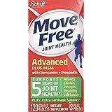 Move Free 维骨力 Advanced Plus 系列 二甲基砜 关节*补充剂 含有氨基葡萄糖和软骨素 120粒 2件装