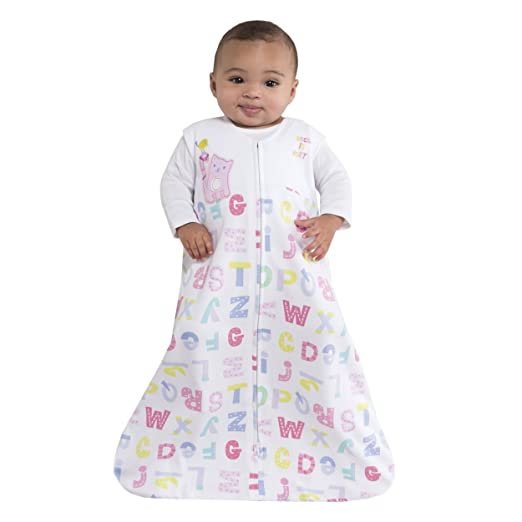 HALO SleepSack 100% Cotton Wearable Blanket, Pink Alphabet Pals, Medium by Halo: Amazon.es: Bebé