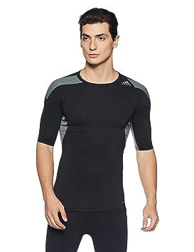 cec11e54d002e adidas Techfit Climacool S/S T-Shirt - Black: Amazon.co.uk: Sports ...