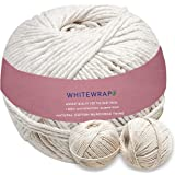 WHITEWRAP Butchers Twine 100% Organic Cotton Natural Chef Grade Food Safe Cooking Twine Baking Trussing Kitchen Twine DIY Cra
