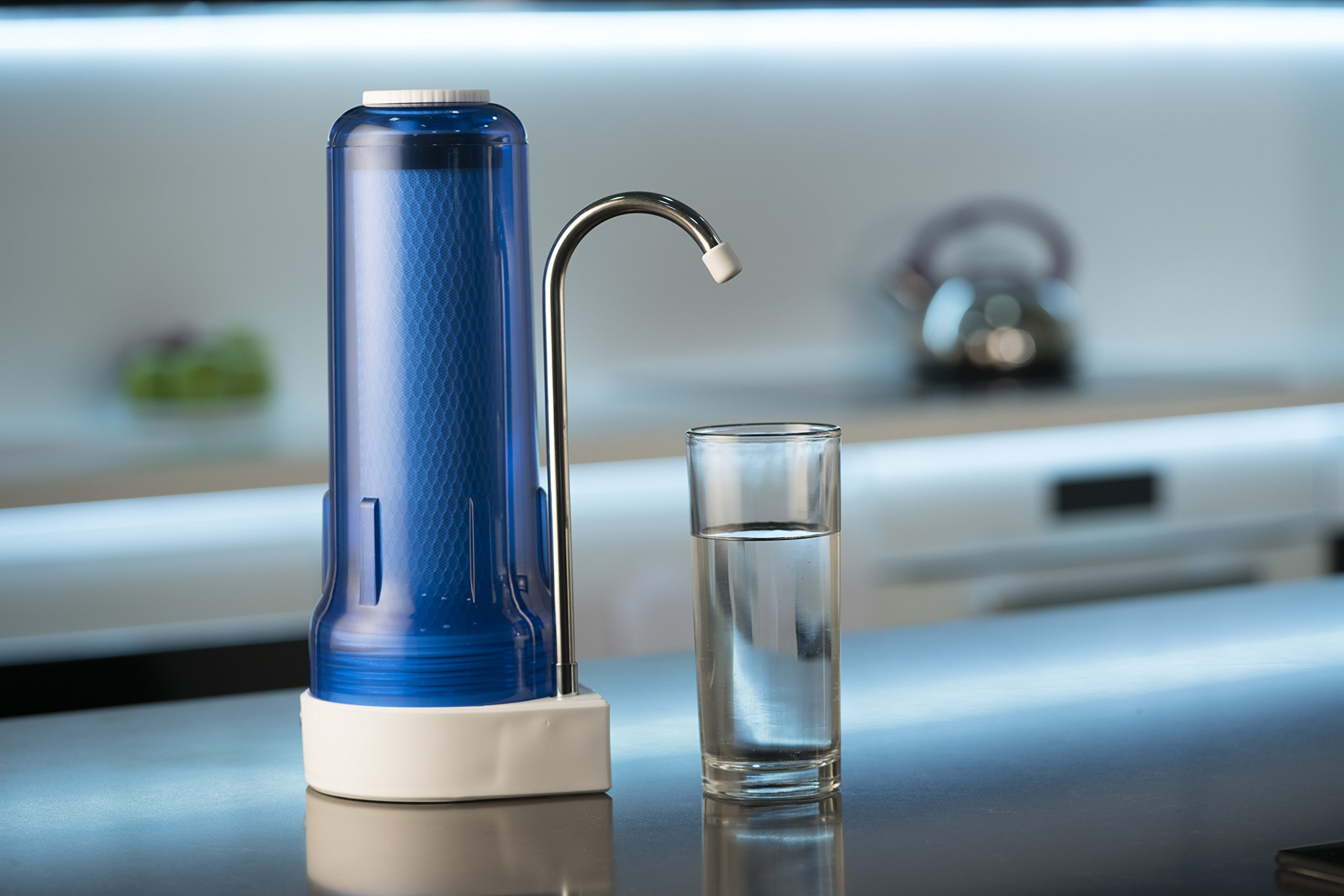 Ecosoft Countertop Drinking Water Filter System Ocean Blue