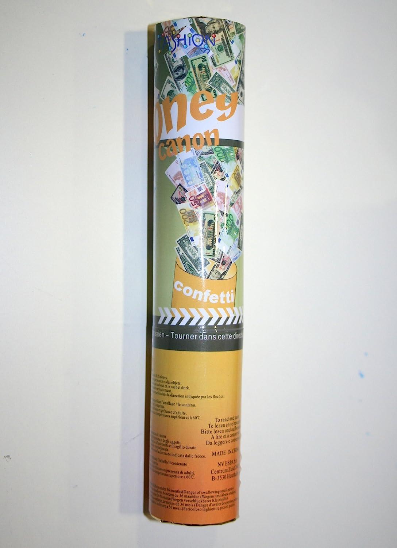 bombe /à confettis popper 20cm billets 20/€ premium Fiesta Palace
