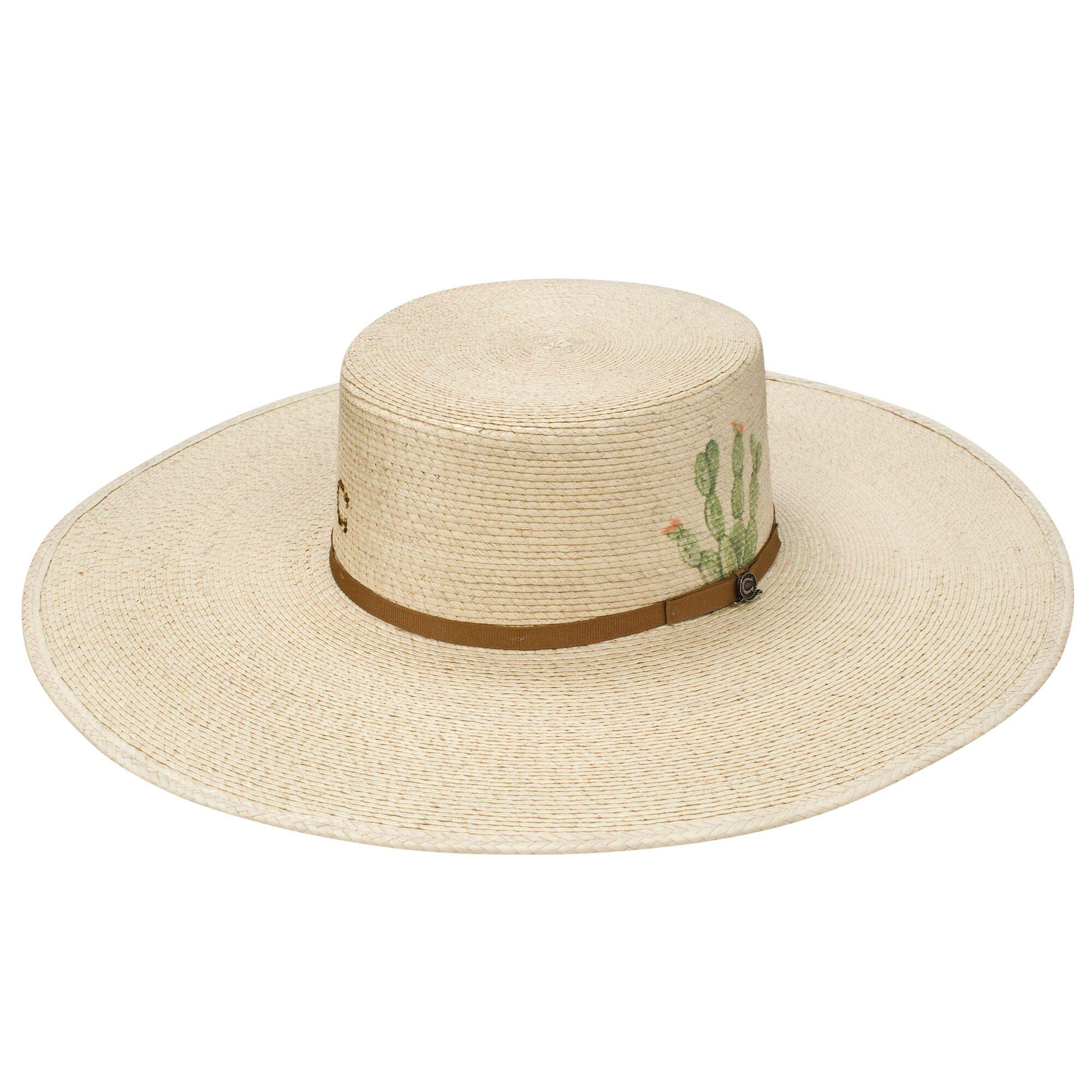 Charlie 1 Horse by Resistol Womens Cactus Expert 4 3/4 Brim Palm S Natural