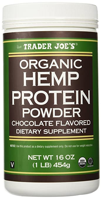 Trader Joe's 16 Oz  Organic Hemp Protein Powder Dietary Supplement  (Chocolate)