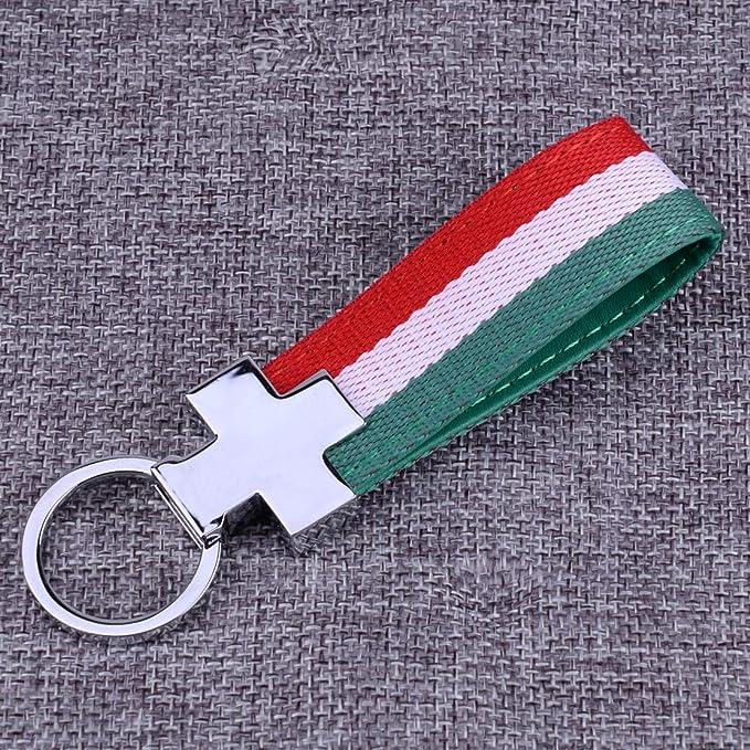 Citall Italien Schlüsselband Schlüsselanhänger Schlüsselanhänger Pu Leder Italienische Flagge Auto