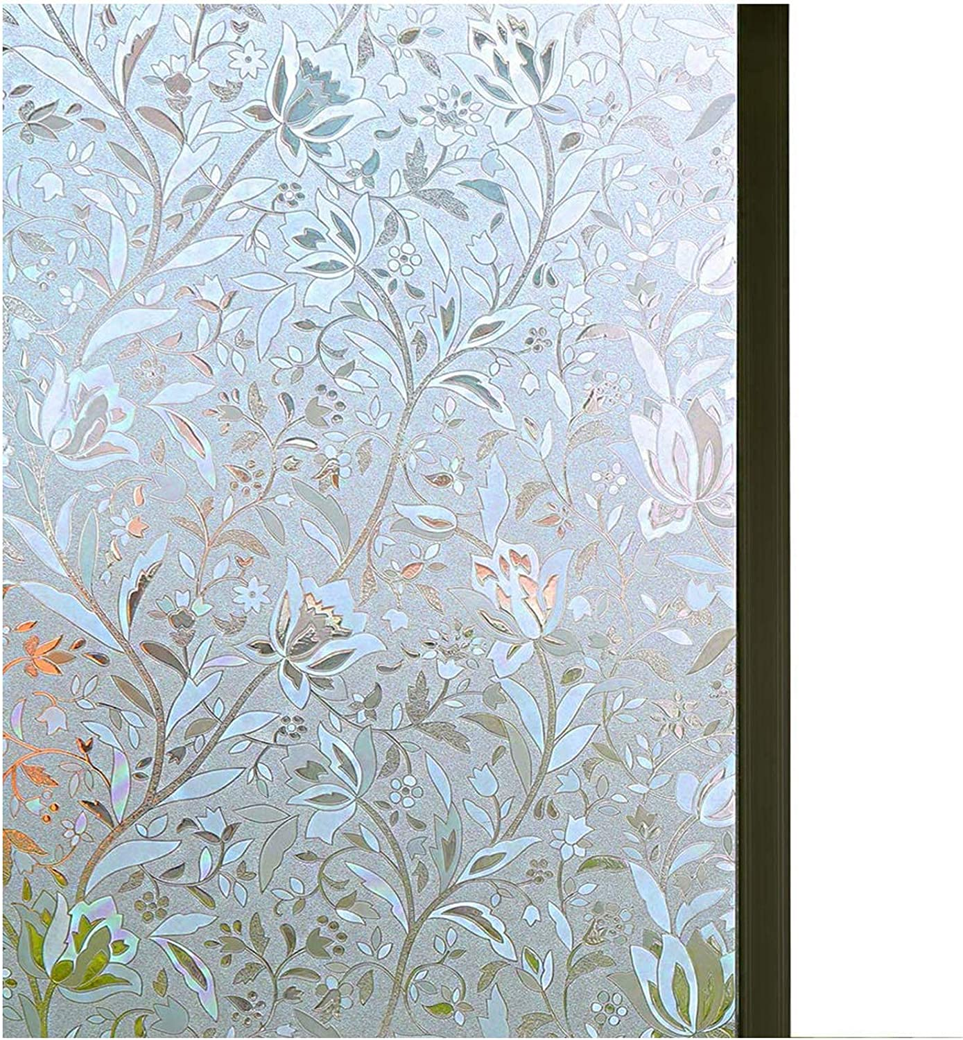 """Niviy Window Privacy Film 35.4"""" by 78.7"""" Glass Film Decorative Window Films Window Cling Film Static Cling Window Film No Glue Heat Control for Home Office"""