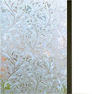 "Niviy Window Privacy Film 35.4"" by 78.7"" Glass Film Decorative Window Films Window Cling Film Static Cling Window Film No Glue Heat Control for Home Office"