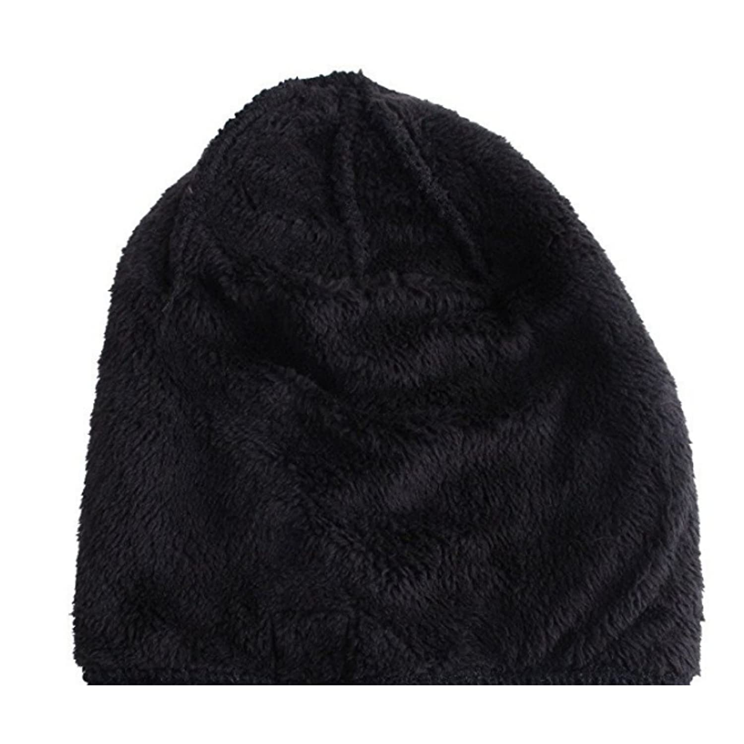 37067d05f Mens Insulated Thermal Fleece Lined Comfort Daily Soft Beanies Winter Hats