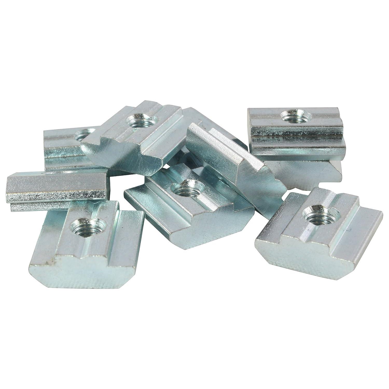 10x T-Slot Nut Sliding Block Slot 8 - Type B - M5 with step, heavy duty, steel 3D24_eu