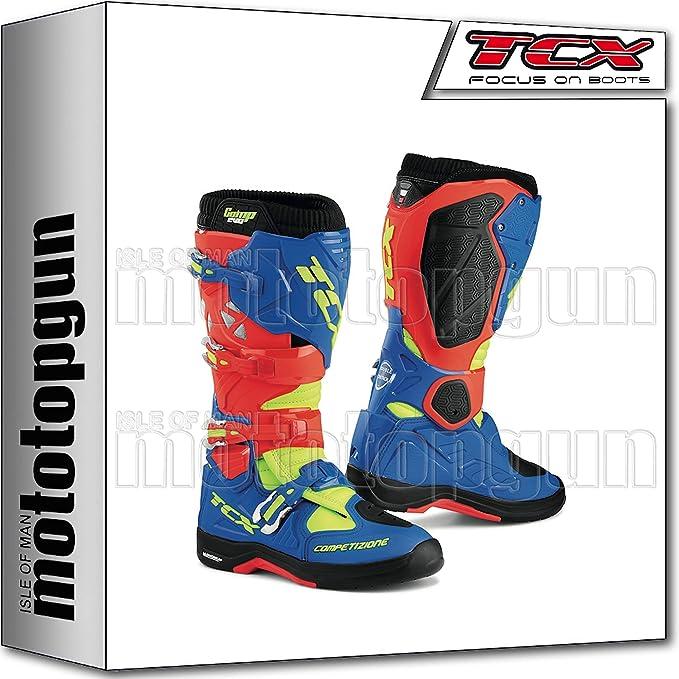 MOTOTOPGUN TCX Scarpe Stivali Comp Evo 2 Michelin Rosso