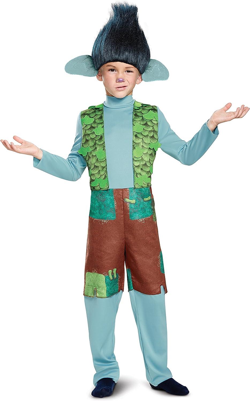 Branch Deluxe W/Wig Trolls Costume, Multicolor, Small (4-6)