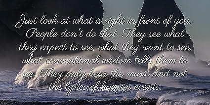 Amazoncom Vincent Bugliosi Famous Quotes Laminated Poster Print
