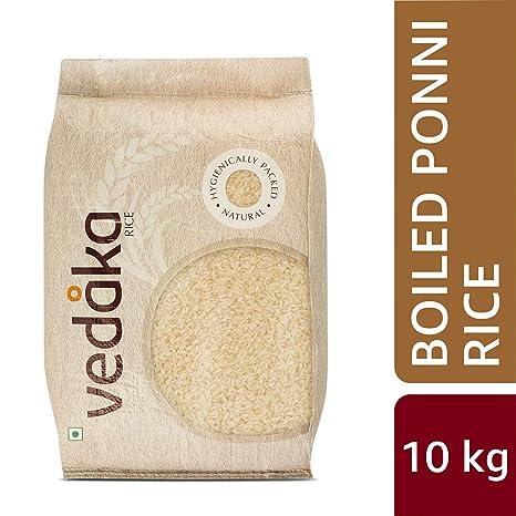 Amazon Brand - Vedaka Ponni Rice, Boiled, 10kg