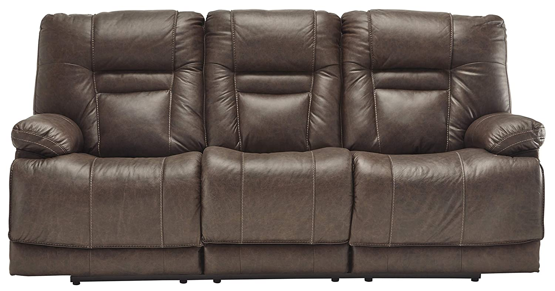 85 W x 39 D x 43 H Umber Signature Design by Ashley U5460315 Wurstrow Power Reclining Sofa
