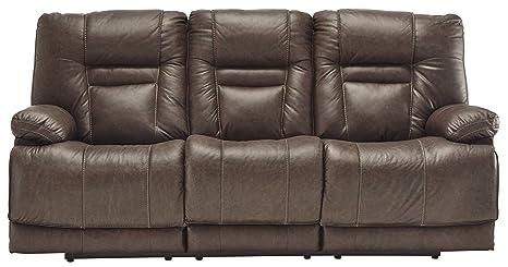 Awe Inspiring Signature Design By Ashley Wurstrow Power Reclining Sofa 85 W X 39 D X 43 H Umber Ibusinesslaw Wood Chair Design Ideas Ibusinesslaworg