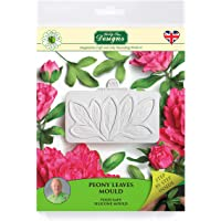 Peony Leaves Silicone Sugarpaste Icing Mould, Flower Pro for Silicone Mould for Cake Decorating, Crafts, Cupcakes, Sugarcraft, Candies, Cards and Clay, Food Safe Approved, Made in The UK