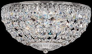product image for Schonbek 1560-40A Swarovski Lighting Petit Crystal Flush Mount Lighting Fixture, Silver