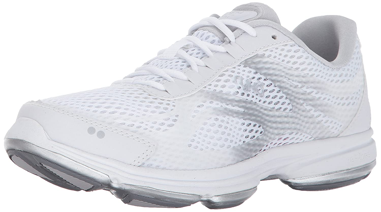 Ryka Women's Devo Plus 2 Walking Shoe B01NB15NBQ 9.5 W US|White/Blue