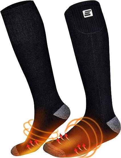 Warmer Electric Heated Socks 4000mAh Boot Feet USB Rechargable Battery Warm Snow