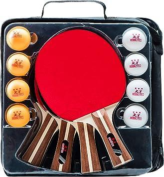 Amazon.com: IntegraFun Ping Pong - Juego de palas de ping ...
