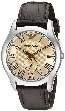 937cf8868036 Emporio Armani Reloj Hombre de Analogico con Correa en Cuero AR1704   Amazon.es  Relojes