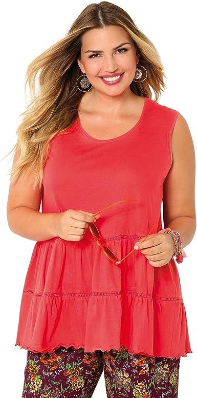 Camiseta Anchos Tirantes con guipur Mujer by Vencastyle - 014856