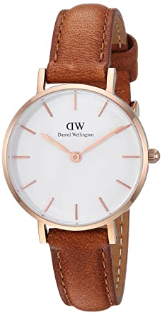 6251e2933b88 Amazon.com  Daniel Wellington Classic Petite Durham in White 28mm ...