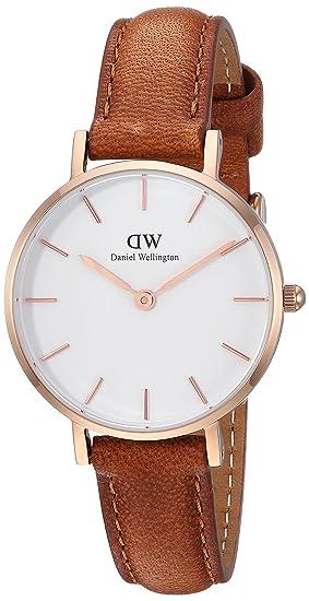 Daniel Wellington Reloj Analógico para Mujer de Cuarzo con Correa en Cuero DW00100228: Amazon.es: Relojes