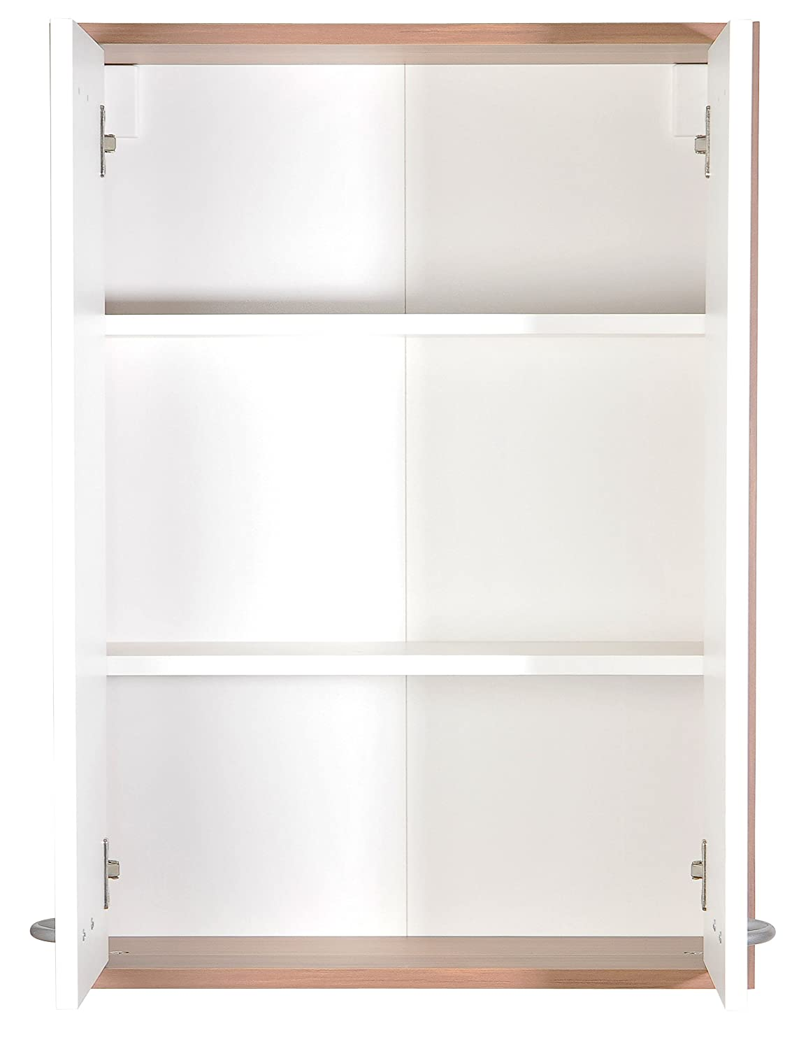 FMD Wall-Mounted Cabinet Madrid 4 Approximately 52.5 x 72 x 19 cm Plumtree and White FMD Möbel 901-004