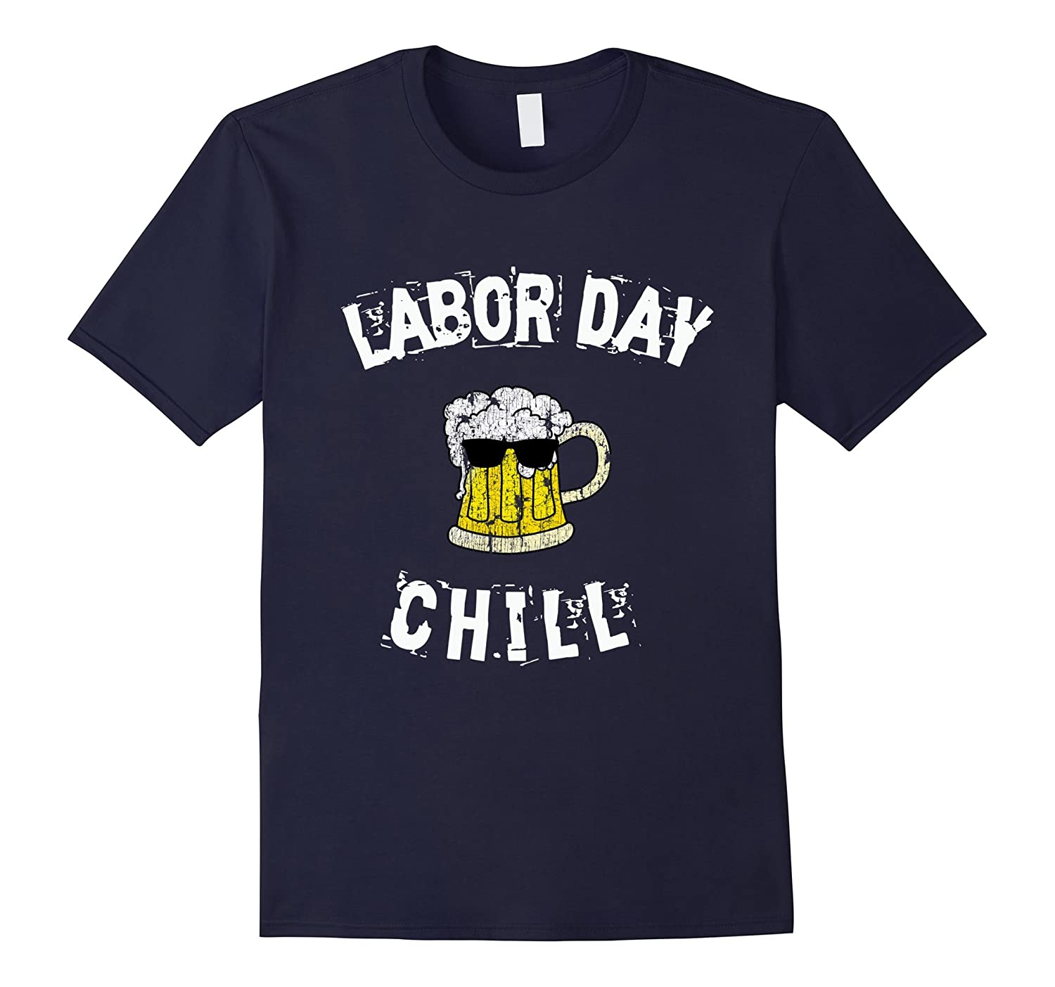 Funny Drinking Beer Labor Day T-Shirt for Men-BN