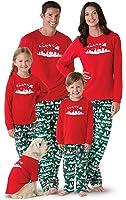 PajamaGram Holiday Night Before Christmas Matching Family Pajamas, Red,