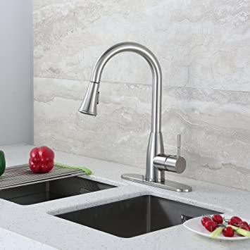 Luxier Kts14 Tb Contemporary 16 Abs Pull Down Spray Kitchen Sink