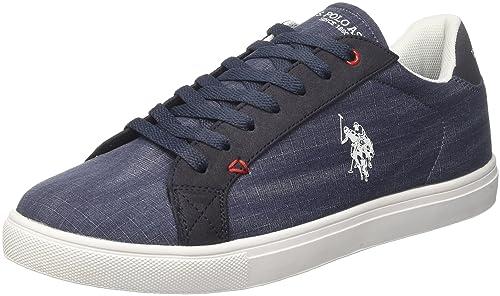U.S.Polo ASSN. Tunis, Zapatillas para Hombre, Azul (Dark Blue Dkbl), 42 EU