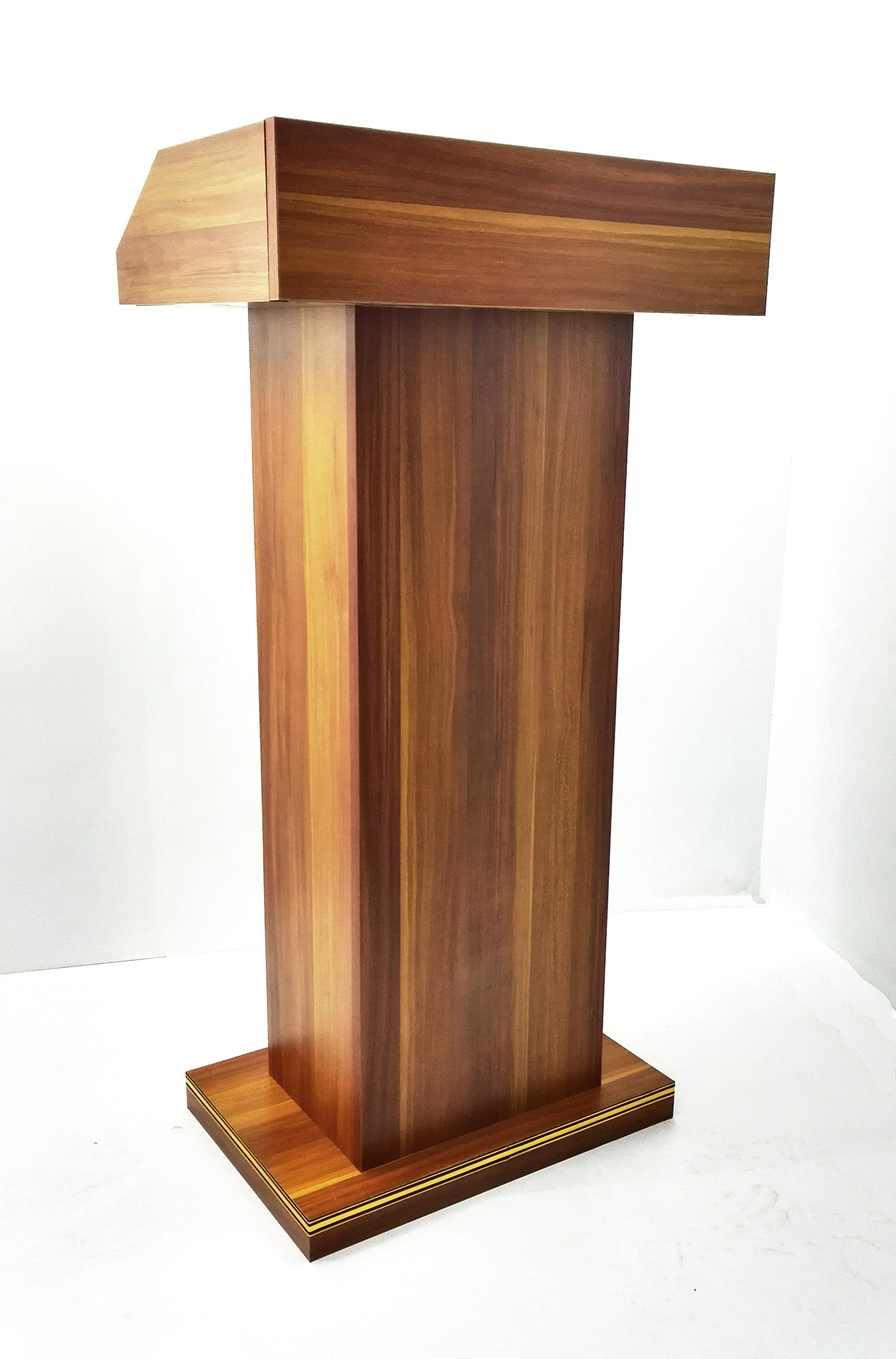 FixtureDisplays Deluxe Wood Podium Reception Restaurant Podium 11479-2