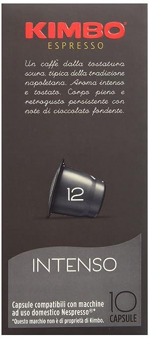 17 opinioni per Kimbo Capsule Intenso Compatibili Nespresso, 12 Astucci da 10 Pezzi (tot 120