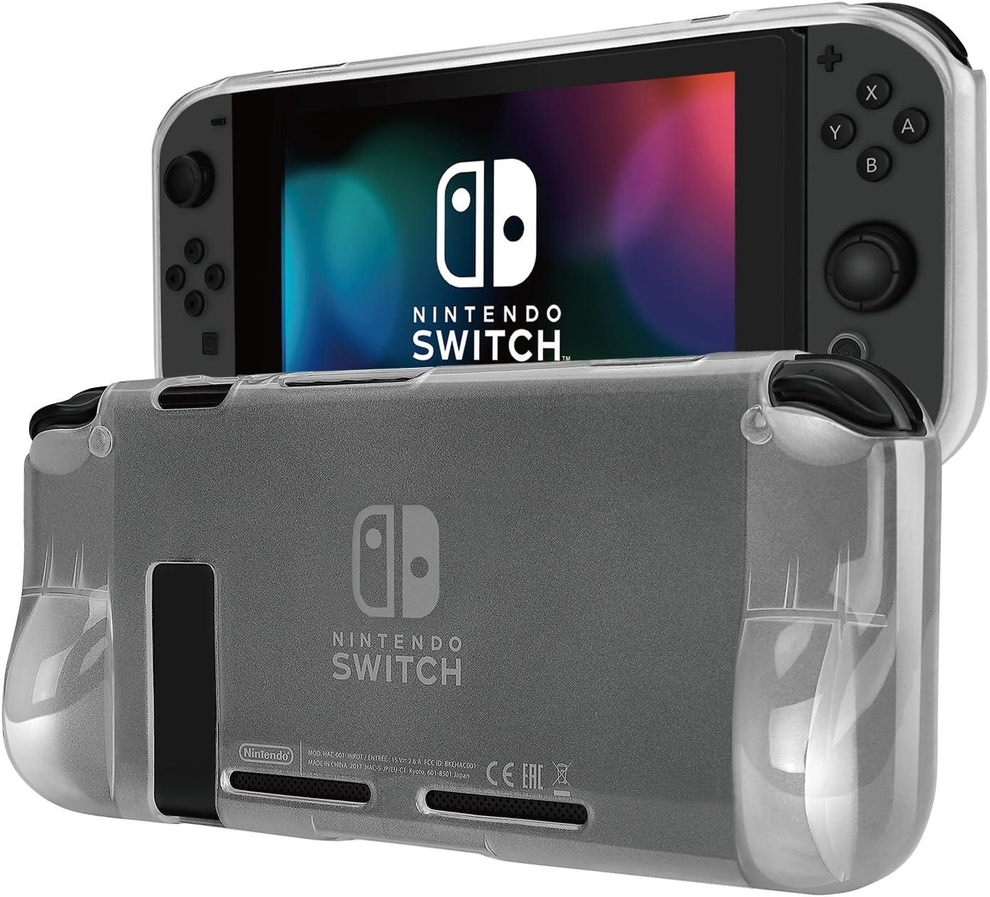TNP Funda para Nintendo Switch Consola Mando Controlador Joy-con, Protector de Plástico TPU, Anti-Golpes y Anti-Arañazos, Cómodo Agarre, Accesorios para Nintendo Switch, Color Transparente: Amazon.es: Videojuegos