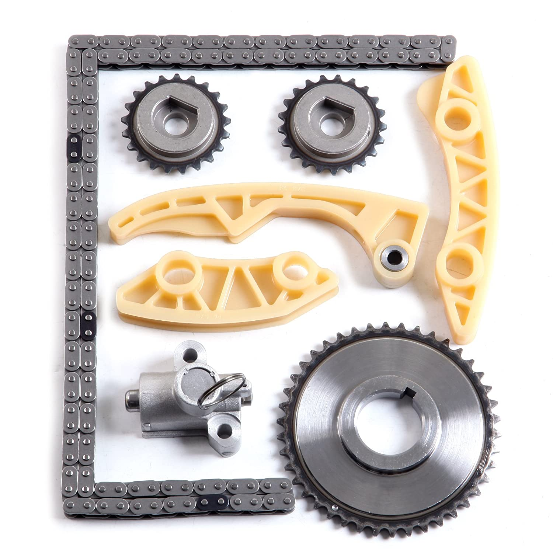 OCPTY Timing Chain Kit Tensioner Guide Rail Crank Sprocket fits for Chevrolet Oldsmobile Saturn 2.0L 2.2L 2.4L Vin F 94202S