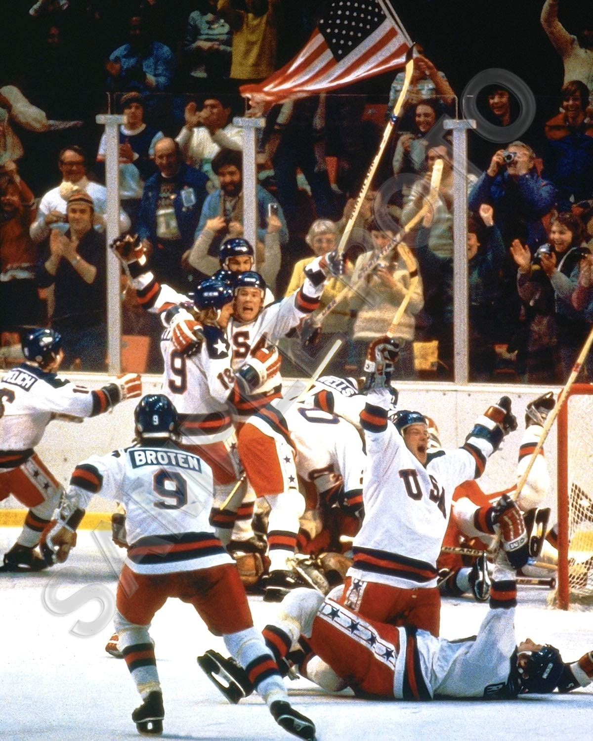 1980 USA Olympic Gold Medal Hockey Team Miracle On Ice Unsigned 8x10 Photo