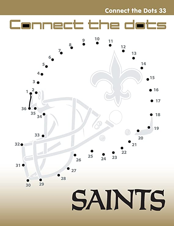 a640e754 Amazon.com: In The Sports Zone NFL New Orleans Saints Activity Book ...