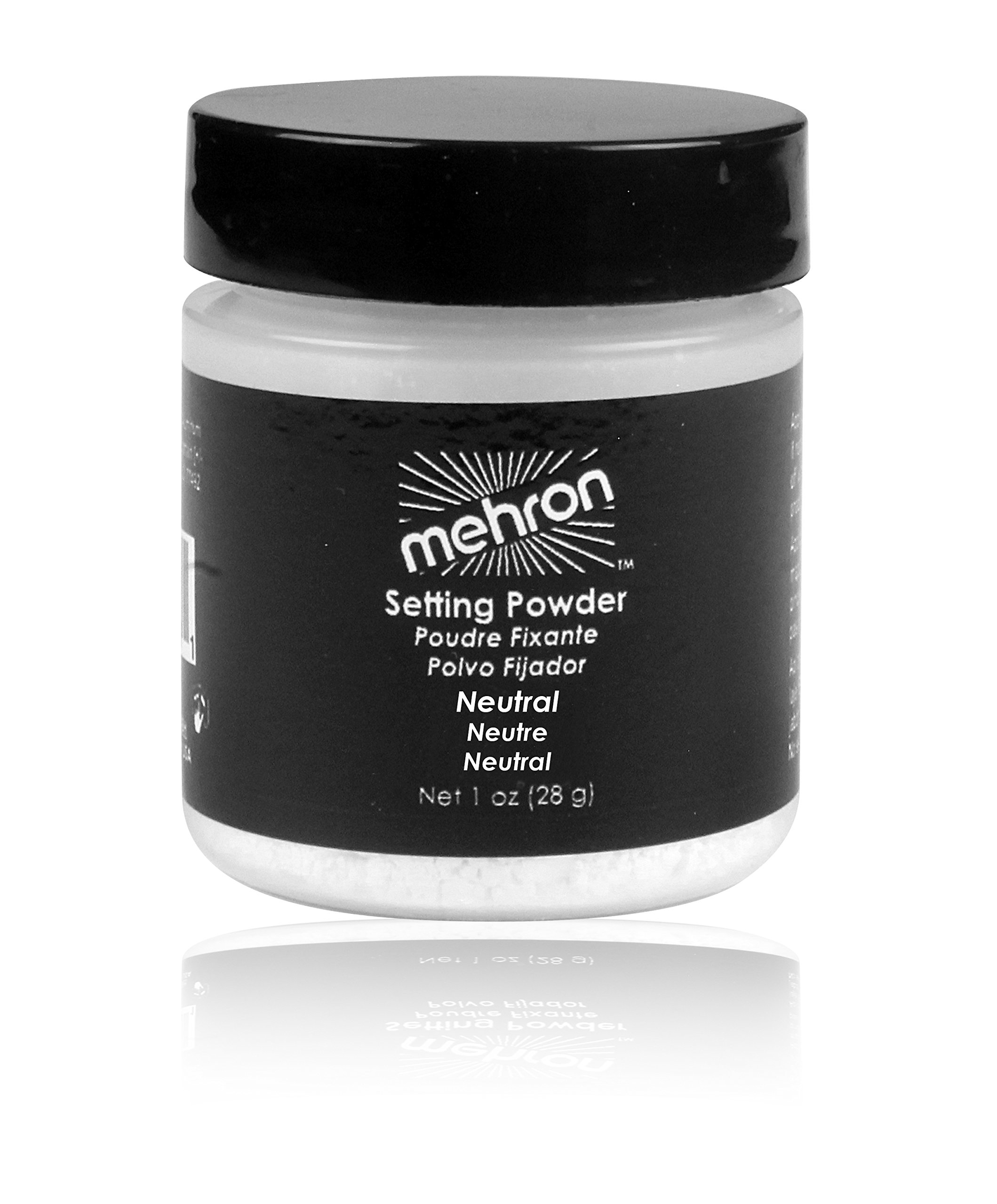 Mehron Makeup Ultra Fine Setting Powder NEUTRAL – 1oz Shaker Jar