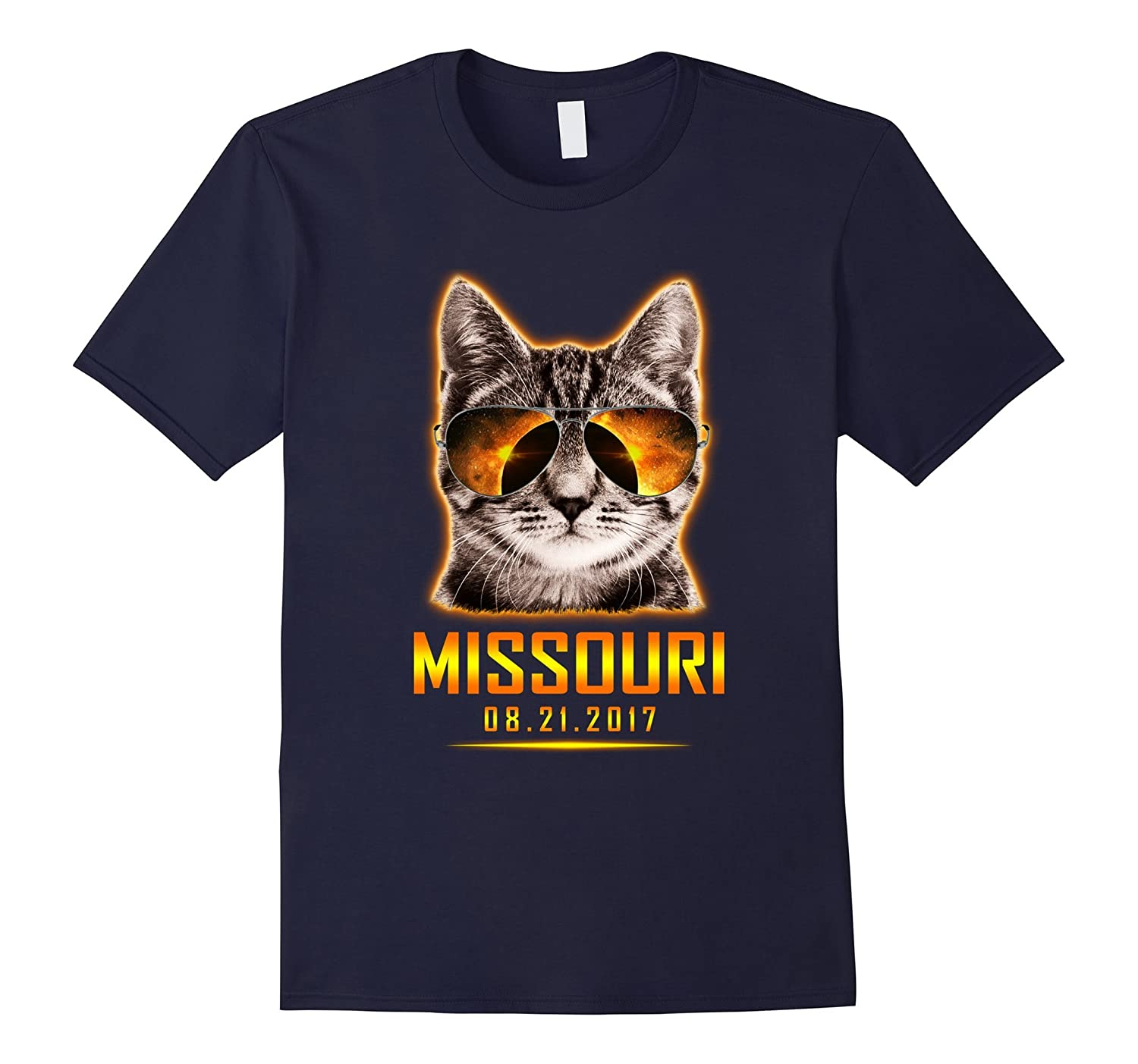Cat Is Watching Missouri Total Solar Eclipse 2017 T-shirt-TH