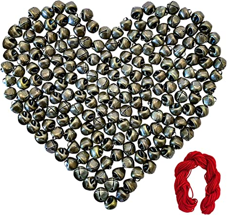 Aflyu 1.18 Inch Jingle Bells Christmas Bells 40 Pieces Craft Bells for Christmas Red, Green