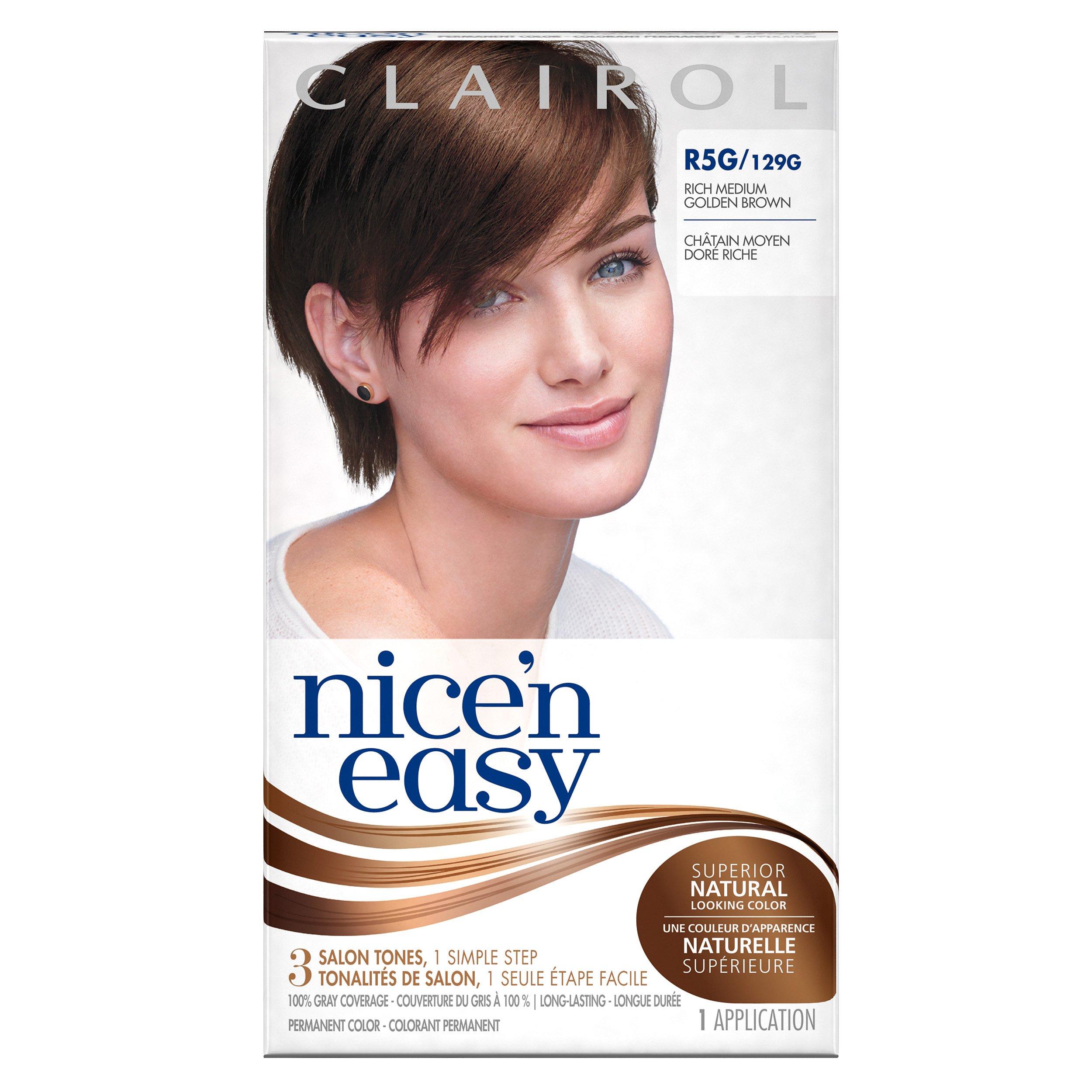 Clairol Nice 'n Easy R5G 129G Rich Medium Golden Brown 1 Kit (Pack of 12)