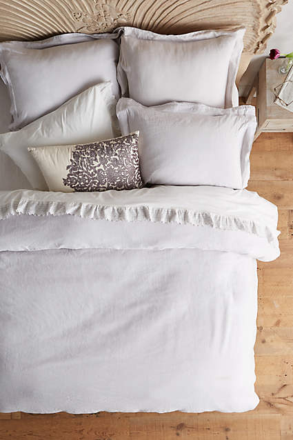 Soft-Washed Linen Duvet - anthropologie.c​om