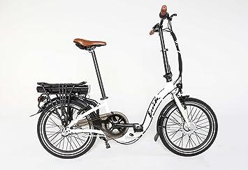 enik 20 Mujer bicicleta eléctrica bicicleta plegable aluminio Pedelec (Blanco)